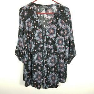 Torrid Women Button Down Top Shirt